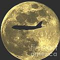 Plane In The Moon by David Call