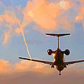Plane Landing by Lesley DeHaan