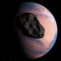 Planet And Asteroid In Space by Sciepro/science Photo Library