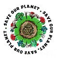 Planet Earth Icon With Slogan by Simon Bratt Photography LRPS