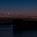 Planetary Conjunction Of Mercury Venus And Jupiter by Charles Hite
