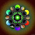 Planetary Metatron Zodiac by Derek Gedney