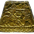 Plaque With Scythian Warriors. Gold by Everett