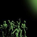 Plastic Army Man Battalion Black And Green by Tony Rubino