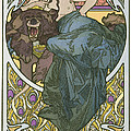 Plate Forty Seven From The Book Documents Decoratifs by Alphonse Marie Mucha