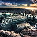 Plate Ice Brighton Beach Duluth by Amanda Stadther