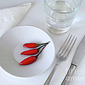 Plate Of Chilies  by Carlos Caetano