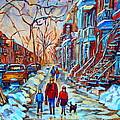 Plateau Montreal Street Scene by Carole Spandau