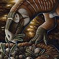 Plateosaurus Dinosaur Nest by H. Kyoht Luterman