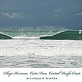 Playa Hermosa Wave Triptych Central Pacific Coast Costa Rica by Michelle Constantine