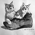 Playful Kittens by Asha Sudhaker Shenoy