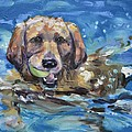 Playful Retriever by Donna Tuten