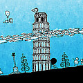 Playful Tower Of Pisa by Gianfranco Weiss
