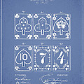 Playing Cards  Patent Drawing From 1877 - Light Blue by Aged Pixel