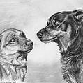 Playing Dog's Emotions by Svetlana Ledneva-Schukina
