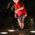 Playing In The Fountain by Allen Biedrzycki