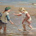 Playing In The Shallows by William Marshall Brown