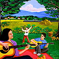 Playing Melodies Under The Shade Of Trees by Cyril Maza