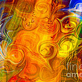 Playing With Bubbles Textured Abstract Artwork By Omaste Witkows by Omaste Witkowski