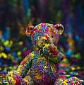 Playing With Coloured Powder by Tim Gainey