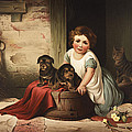 Playing With Friends Circa 1850 by Aged Pixel