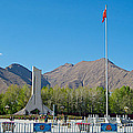Plaza Across From Potala Palace Which Replaced A Natural Lake-tibet by Ruth Hager