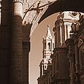 Plaza De Armas   Arequipa    Peru - Sepia by J L Woody Wooden