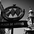 plaza de armas metro station near Santiago Metropolitan Cathedral Chile by Joe Fox
