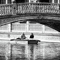 Plaza De Espana Rowboats Bw by Joan Carroll
