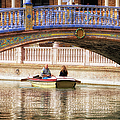 Plaza De Espana Rowboats by Joan Carroll