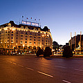 Plaza De Neptuno And Palace Hotel by Panoramic Images