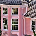 Beautiful Pink Turret - Boardwalk Plaza Hotel Annex - Rehoboth Beach Delaware by Kim Bemis