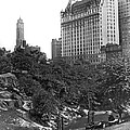 Plaza Hotel From Central Park by Underwood Archives