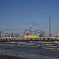 Pleasure Pier At Sunset by John McGraw