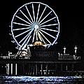 Pleasure Pier Ferris Wheel by Kristina Deane