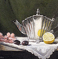 Pleated Teapot With Lemon by Sarah Parks