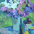 Plein Air Lilacs by Diane McClary