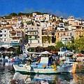 Plomari Town by George Atsametakis