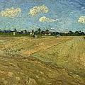 Ploughed Fields - The Furrows by Vincent van Gogh