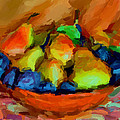 Plums And Pears by Yury Malkov