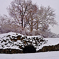 Plymouth Meeting Lime Kilns In The Snow by Bill Cannon