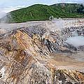 Poas Volcano Crater by Oscar Gutierrez