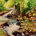 Pocantica River Rapids by Nicolas Bouteneff