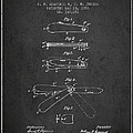 Pocket Knife Patent Drawing From 1886 - Dark by Aged Pixel
