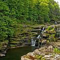 Poconos Ledges Waterfall by Adam Jewell