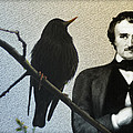 Poe And The Raven by Bill Cannon