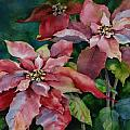 Poinsettia Pair by Michele Thorp