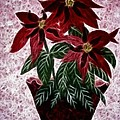 Poinsettias Expressive Brushstrokes by Barbara Griffin