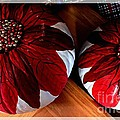 Poinsettias - Handmade - Crafts - Pumpkins by Barbara Griffin