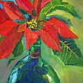 Poinsettias by Joan Coffey